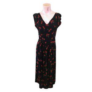 Lorraine Parish Cherry Print A-Line Dress